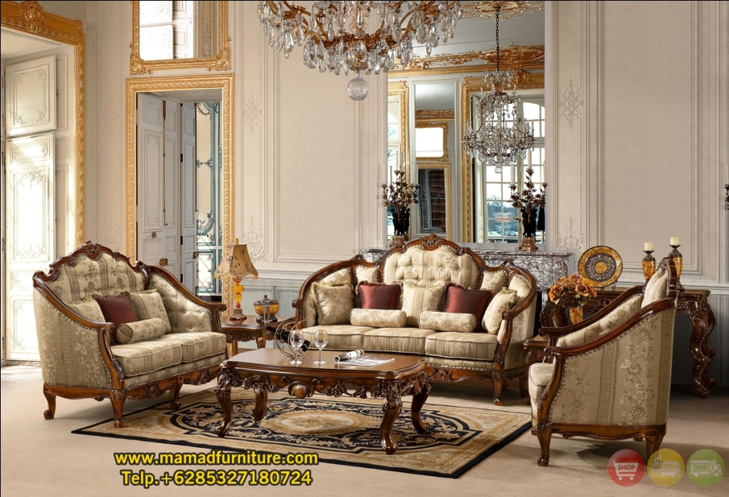 MF-0058 Jual Set Kursi Tamu Sofa Ukiran Finishing Antik