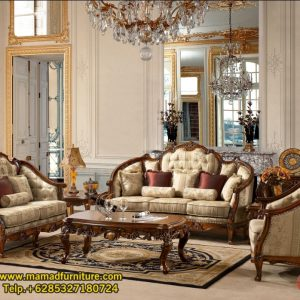 Set Kursi Tamu Sofa Ukiran Finishing Antik